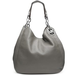 grey mk handbag